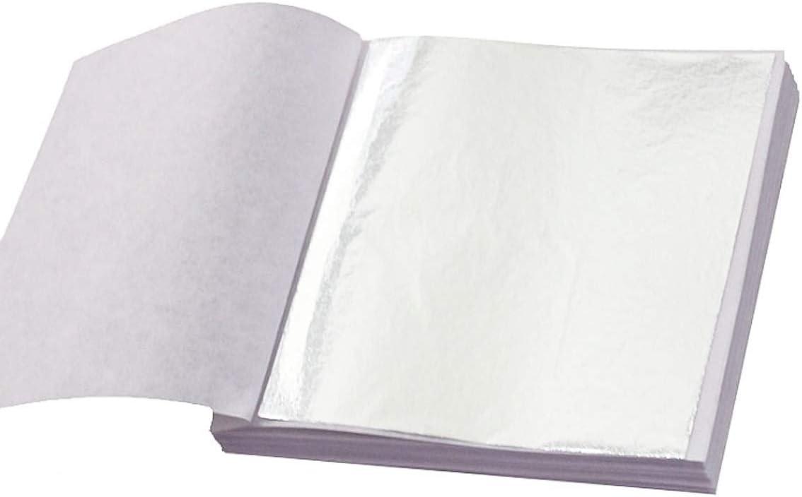 Silver Leaf Large 5 x 95Mmm x 95mm Sheets Arts Crafts Picture Frames Gilding