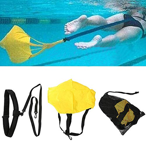 GAOHONGMEI Schwimm-Trainingsgürtel-Set, stationärer Schwimmgürtel, Krafttraining, Widerstandsbänder mit Fallschirm-Schwimm-Trainingsgürtel