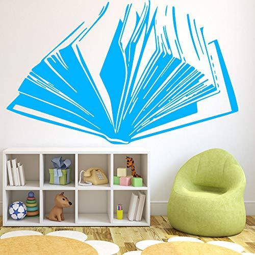 Creative Book Pattern Wandaufkleber für Kinder Schlafzimmer Wohnzimmer Abnehmbare Wandaufkleber Home Decoration Aufkleber Gelb M 30cm X 18cm