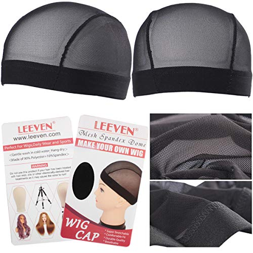 """Leeven 5 Pcs/lot Dome Ultra Stretch Wig Cap for Women Breathable Wig Caps for Making Wigs Large Size 23.5""""-25"""""""