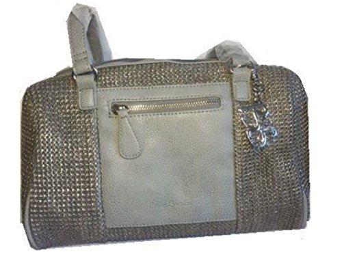 Betty Barclay Bowling Bag grau Schultertasche Handtasche Umhängetasche