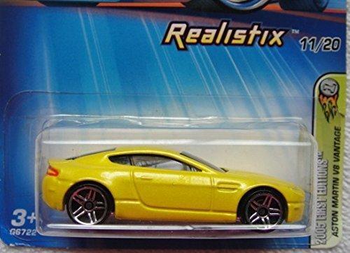 Hot Wheels 2005 First Editions Yellow Aston Martin V8 Vantage REALISTIX #011