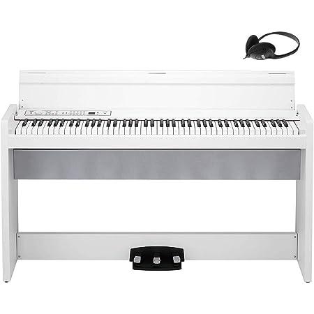 【Amazon.co.jp限定】KORG コルグ 電子ピアノ 88鍵盤 LP380 USB ホワイト 白 電子ピアノ部門最優秀賞を受賞したKORGによる人気商品 温かみを感じる木製 純正ヘッドフォンとペダルが付属
