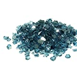 Golden Flame 20-Pound Fire Glass 1/2 Pacific Blue Reflective