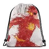 WH-CLA Drawstring Backpack Flash DC C-Omics Mochilas con Cordón para Exteriores...