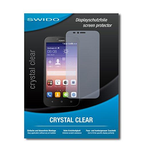 SWIDO Bildschirmschutz für Huawei Y625 [4 Stück] Kristall-Klar, Hoher Festigkeitgrad, Schutz vor Öl, Staub & Kratzer/Schutzfolie, Bildschirmschutzfolie, Panzerglas Folie