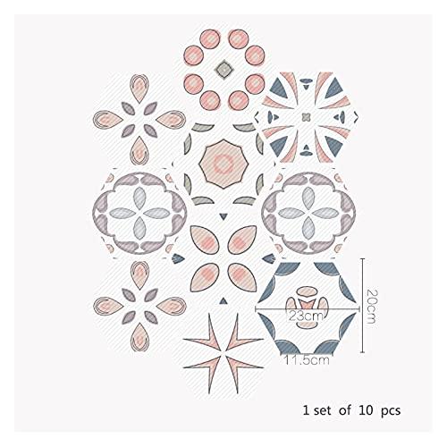 SHUILIANDU Baño Impermeable Pegatinas de Piso, Peel Stick Agustivo Azulejos Agustivo, Cocina Sala de Estar Decoración No resbalón Piso Calcomanía (Color : DB053, Size : 30 Pieces)