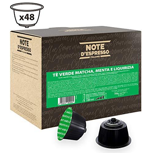 Note D'Espresso Green Tea, Match, Mint and Liquorice, Kapseln ausschließlich Kompatibel mit Nescafé* und Dolce Gusto* Kapselmaschinen 16g x 48 Kapseln