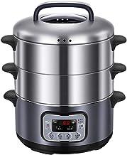 cuiseur vapeur Acier inoxydable électrique à vapeur multifonction Trois ménages couche grande capacité à vapeur, étuvé Pet...