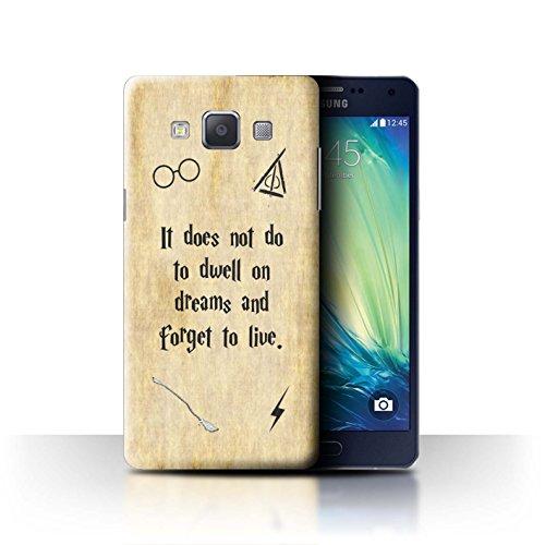 Hülle Für Samsung Galaxy Grand Max Schule der Magie Film Zitate Dwell On Dreams Design Transparent Ultra Dünn Klar Hart Schutz Handyhülle Hülle