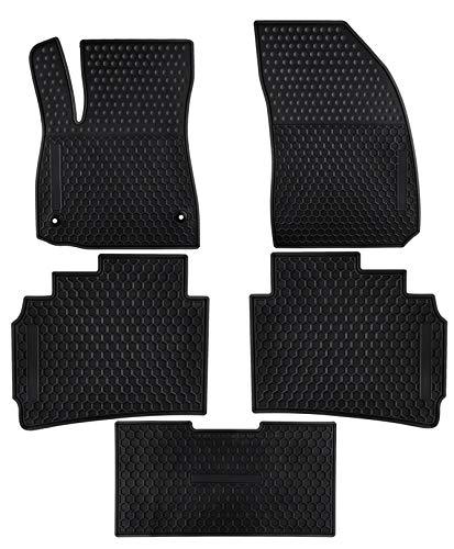 Ucaskin Car Floor Mats Custom Fit for Chevrolet Chevy Malibu 2020 2019 2018 2017 2016 Odorless Washable Rubber Foot Carpet Heavy Duty Anti-Slip All Weather Protection Car Floor Liner-Black