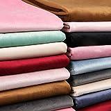 Tela de Terciopelo Grueso Velvet Fabric para DIY Ropa Cortina Almohada Sofá Coser Tela (Rosa Oscuro, Vendido por Metro)
