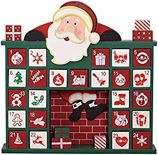 Christmas Wooden Advent Calendar with 24 Drawers to Fill Small Gifts Countdown to Christmas Decoration