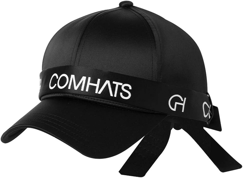 CQ Hat Female Summer Baseball Cap Hipster Cap Visor Solid color Sun Hat (color   Black)