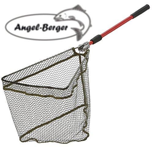 Angel-Berger Kescher gummiert Unterfangkescher Verschiedene Modelle (120cm)