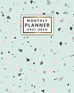 2021-2023 Monthly Planner: Trendy Three Year Calendar, Agenda, Diary | 3 Year Organizer with Vision Boards, To Do Lists, N...