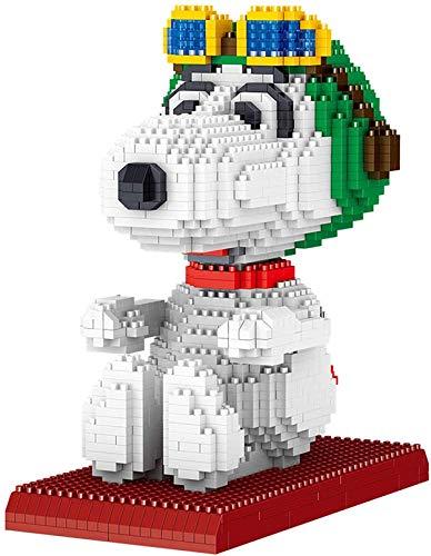 Modelo De Perro Mini Bloques Nano Bricks Construction Set, Regalo para Niños Adultos (Snoopy)