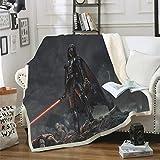 XTD Enfants Adultes Cristal Velvet Fleece Throw Blanket -150 × 200cm Star Wars 3D Imprimé Couvertures Moelleuses Chaude 100% Microfibre Couch Bedding- pour Halloween Cadeau B- 150 * 200cm