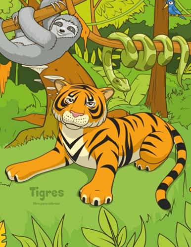 Tigres libro para colorear 1