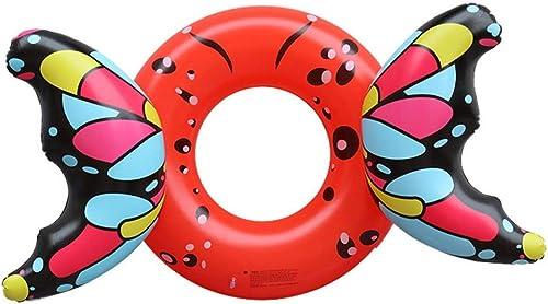 CGMZN Schwimmring Neuer aufblasbarer Erwachsener Schmetterlings-Schwimmen-Ring-schwimmendes Kindersommer-Wasser-Spielzeug
