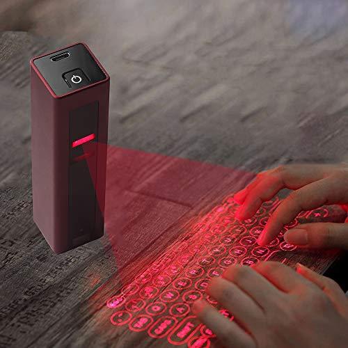 LIZONGFQ Drahtlose Bluetooth-Tastatur Mini Tragbare virtuelle Laserprojektionstastatur für iOS Android Phone iPad Tablet-Computer-Laptop