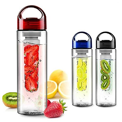 HONEY RETAILS Plastic Health Fruit Infuser Bottle/Detox Water Bottle, 670 ml (Multicolour)