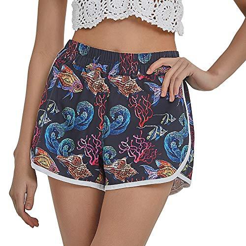 BALCONY & FALCON Pantaloncini da Mare Donna, Pantaloncini da Bagno per Donna Costume da Bagno Donna Calzoncini Donna per Vacanza L'Asciugatura Rapida