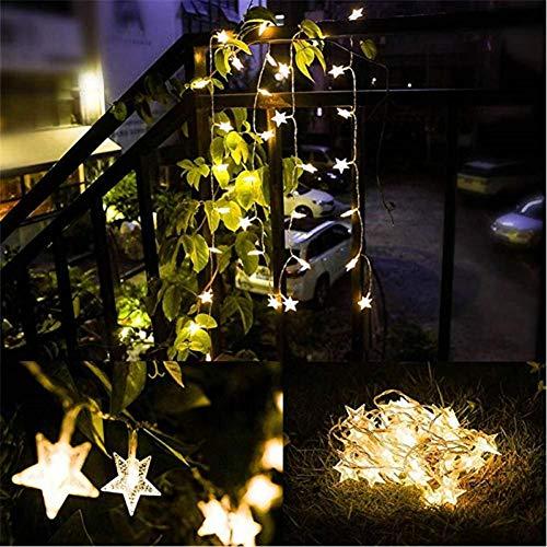 WEDFGX 10M 80Leds 3Aa Tema con Forma de batería Led String Luces de Hadas Navidad Vacaciones Boda Decoración de Fiesta Iluminación de Fiesta