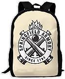 TTmom Mochilas Tipo Casual,Bolsa de Viaje Springfield Armory Since 1794 Unisex Backpack Shoulder Bag School Backpack Travel Bags Laptop Backpack