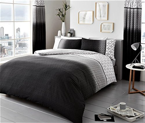 Urban Ombre Duvet/Quilt Cover Bedding Set With Pillow Case (Urban Ombre Grey, Double)