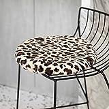 ALIPC Leopard Kaninchen Pelz Dicker Tatami Stuhl Pad,Nicht-Slip Langlebiges Essen Sitzpolster Winter Warme Windel Sitzauflage Zu Car Office Home-a 40x40cm(16x16inch)