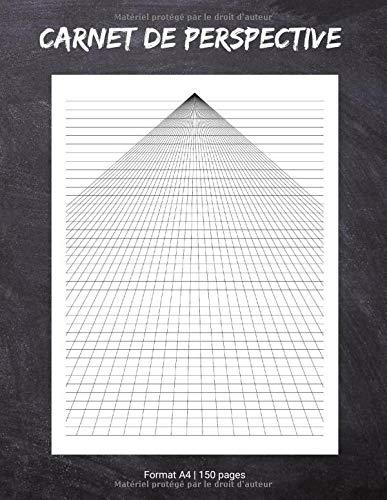 Carnet de Perspective: Cahier de Feuilles à Point de Fuite Simple | Carnet pour Dessiner des Vues Artistiques, d'Architecture, de Paysages ou de design en 3D