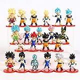 World Collection Lote de 21 Piezas de Dragon Ball,Lote Completo de Figuras del Universo de Bola de Dragon,Figuras coleccionables Goku