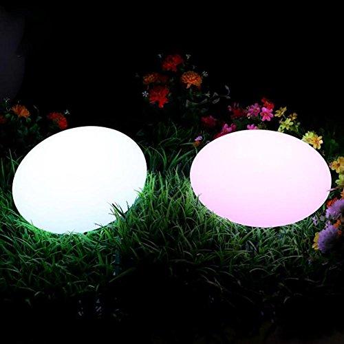 QMMCK Staande lamp, creatief opladen, waterdicht, afstandsbediening, 7 kleuren, slijtvast, verlichtingsdecoratie, te gebruiken op een groot aantal plaatsen