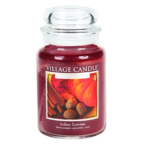 Village Candle Indiase zomer geurkaars in glas, 737 g, bruinachtig rood, 9,9 x 10,1 x 11,9 cm