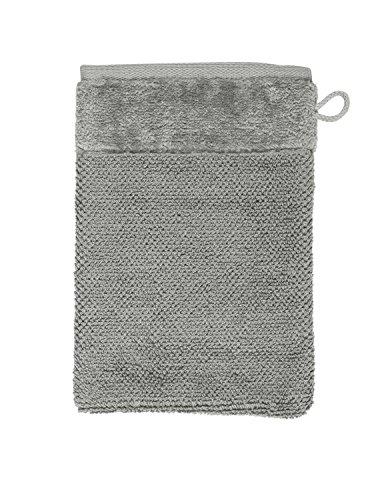 Möve Bamboo Luxe Gant de Toilette en Cellulose de Bambou Gris argenté 15 x 20 cm