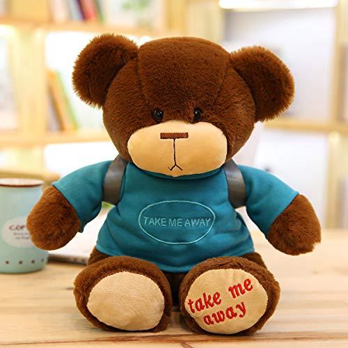 ahzha Plüsch Puppe Süße Rucksack Cub Puppe Gekleidet Bär Plüsch Spielzeug Greifen Maschine Puppe Geschenk 40cm B