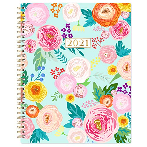Planner 2021 - Weekly & Monthly 2021 Planner with Thick Paper, 8'x10', from Jan 2021- Dec 2021, Twin- Wire Binding, to-Do List, Perfect Personal Organizer for School, Home & Office