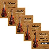 5 Sets Replacement Stainless Steel 3/4 4/4 Size Fiddle String Violin Strings E