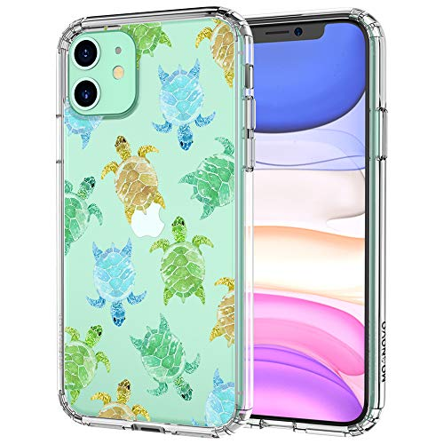 MOSNOVO iPhone 11 Case, Sea Turtle Pattern Clear Design Transparent Plastic Hard Back Case with TPU Bumper Protective Case Cover for Apple iPhone 11 (2019)