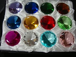 Mother's Day Special: (12) Glass Diamond Paperweight 40mm Birthstone by H-M SHOP