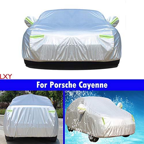 Housse de voiture Sedan Coque étanche/coupe-vent/étanche à la poussière/résistant aux rayures extérieur Protection UV complète de voiture pour Cayenne 2011 2012 2013 2014 2015 2016 2017 2018 2019