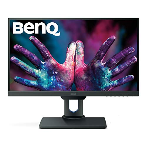 BenQ PD2500Q 25 inch 2K DesignVue Designer Monitor, 1440p QHD, IPS, 100% Rec.709 and sRGB, Factory Calibrated, Eye-Care, Anti-Glare, Ultra Slim Bezel Design, Height Adjustable, HDMI, DP- Black