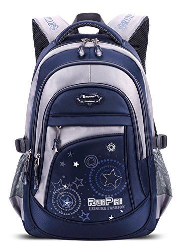 FreeMaster - Zaino da scuola per bambini e ragazzi, taglie M/S, 45x30x16cm/41x27x13cm, 22/15litri, Blau, M