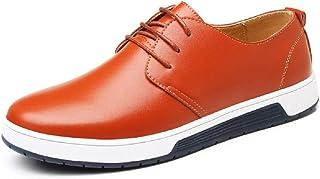 c2b640f543c5ec JOYTO Chaussure de Cuir Homme, Oxford Derby Lacets Dressing Casual Business  Mariage Respirant Noir Marron