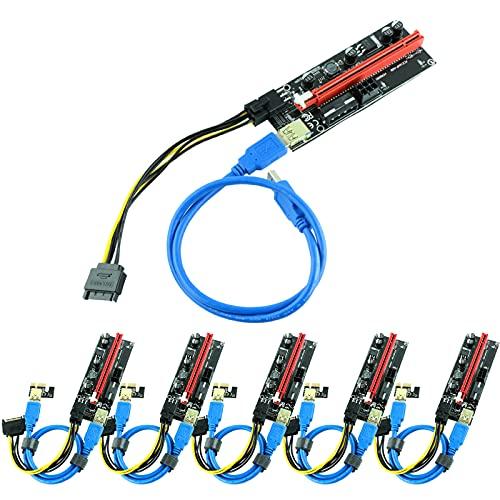 Ziyituod Extensión de gráficos PCIE Riser 1X a 16X para Tarjeta adaptadora...