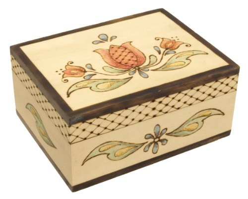 Walnut Hollow Unfinished Wood Recipe Card Box with Hinged Lid for Arts, Crafts, Hobbies and Home Storage