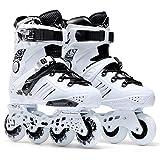 Sunkini Patines de Carreras para Hombres Patines Quad Classic Roller Boots Technical Skateboarding Outdoor Sport Patín en línea (tamaño : 44)