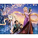 ZSYXM Diamond Painting taladro completo bordado de diamantes costura punto de cruz set diamante pintura princesa con pelo largo-40x50cm