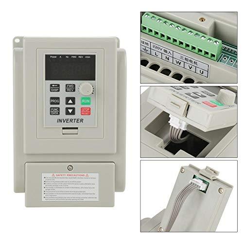 AC 220V 1.5KW Variador de frecuencia ajustable VFD Controlador de velocidad Convertidor inversor para motor trifásico